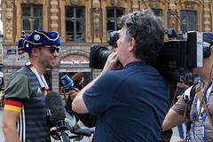 Deutscher Fan bei Interview