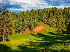 Walking to the pin last week playing #discgolf in #colorado