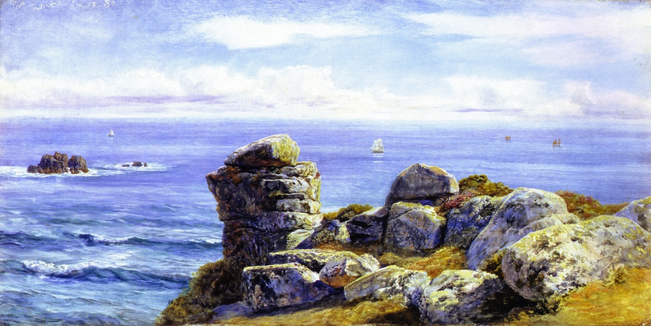 Porth Gwarra by John Edward Brett, A.R.A. - 1880