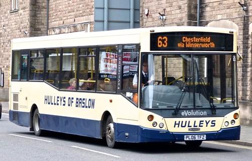 PL06 TFZ 'Hulleys of Baslow' Dennis Dart SLF / MCV Evolution on 'Dennis Basfords' railsroadsrunways.blogspot.co.uk
