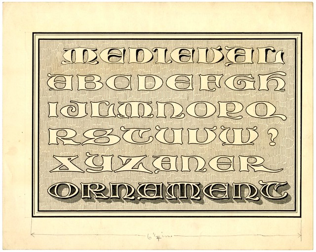 Zaner album of alphabet designs - Medieval Ornament