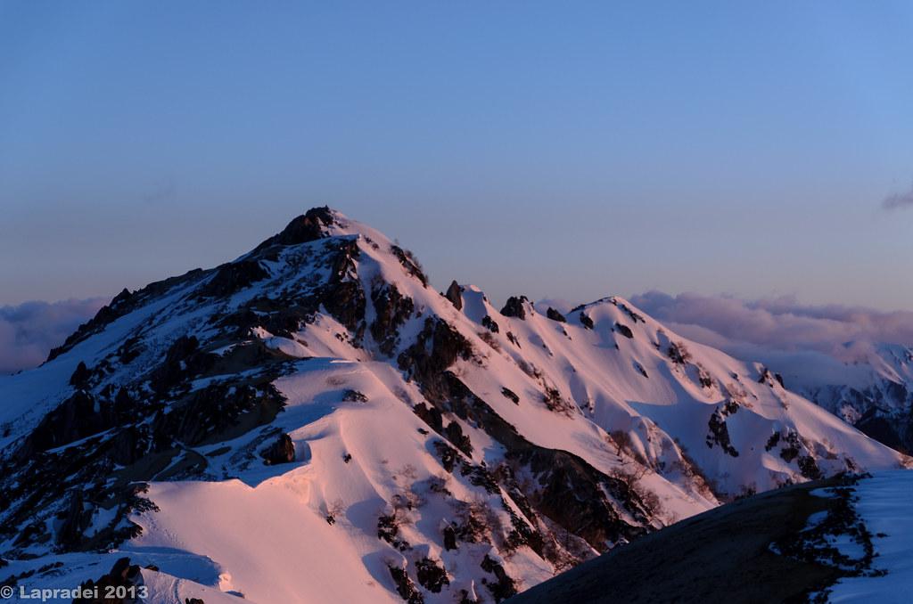 20130503 紅く染まる燕岳