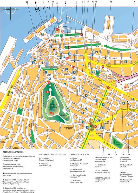Mapa centro de Vigo