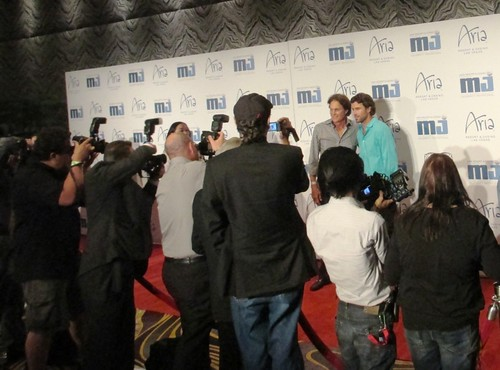 Bruce Jenner & Son Brody Jenner, Red Carpet of Michael Jordan Invitational, Aria Resort, Las Vegas, NV, April 2013