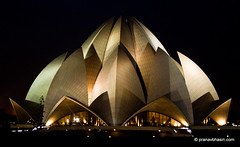 Lotus Temple At Night, Kalkaji, New Delhi