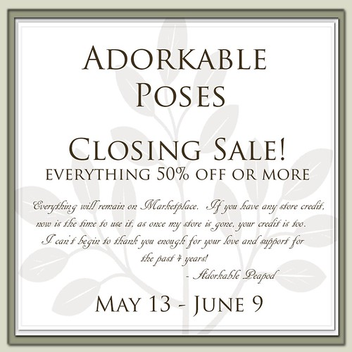 Adorkable Poses Closing Sale by Adorkable Peapod