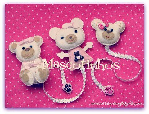 Ursinhos by Mascotinhos em Feltro