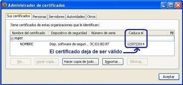 Certificado en Firefox