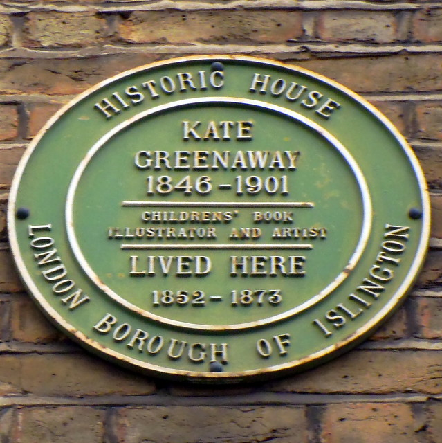 Photo of Kate Greenaway green plaque