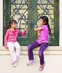 Kids at a window