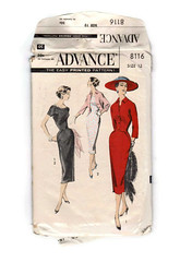 Vintage Advance Dress Pattern 8116