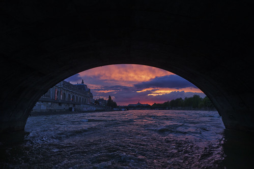 Paris, Sunset from a boat