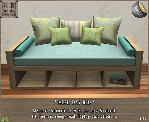 PROMO ! *RnB* Day Bed - Shabby - 40 Anims (c)PIC