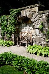 The Mount- Bench in Walled Garden by David Dashiell
