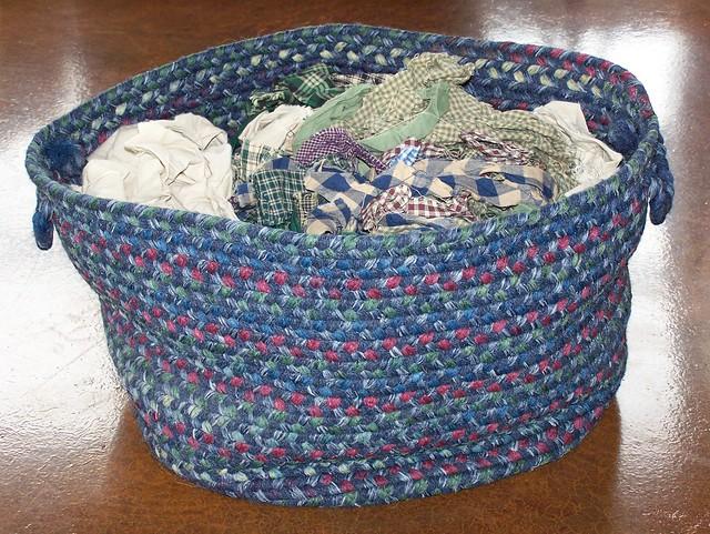Basket of Homespun Scraps