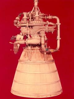 XLR-115 hydrogen fueled rocket engine developed by Pratt and Whitney Aircraft