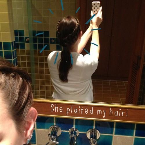 Braided hair in Thailand
