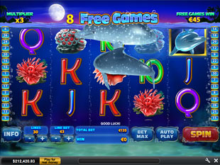 free Dolphin Cash shifting wild feature