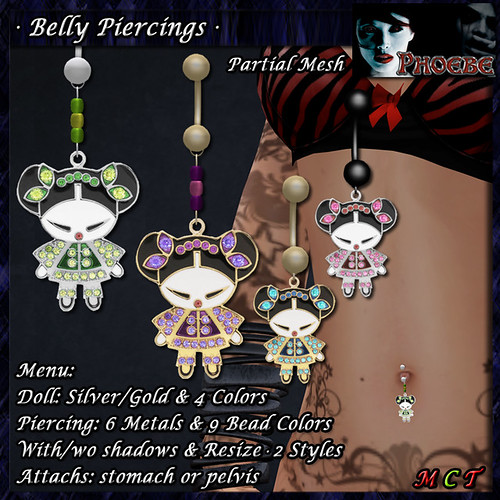 *P* Chinese Doll Belly Piercings (P-MESH)