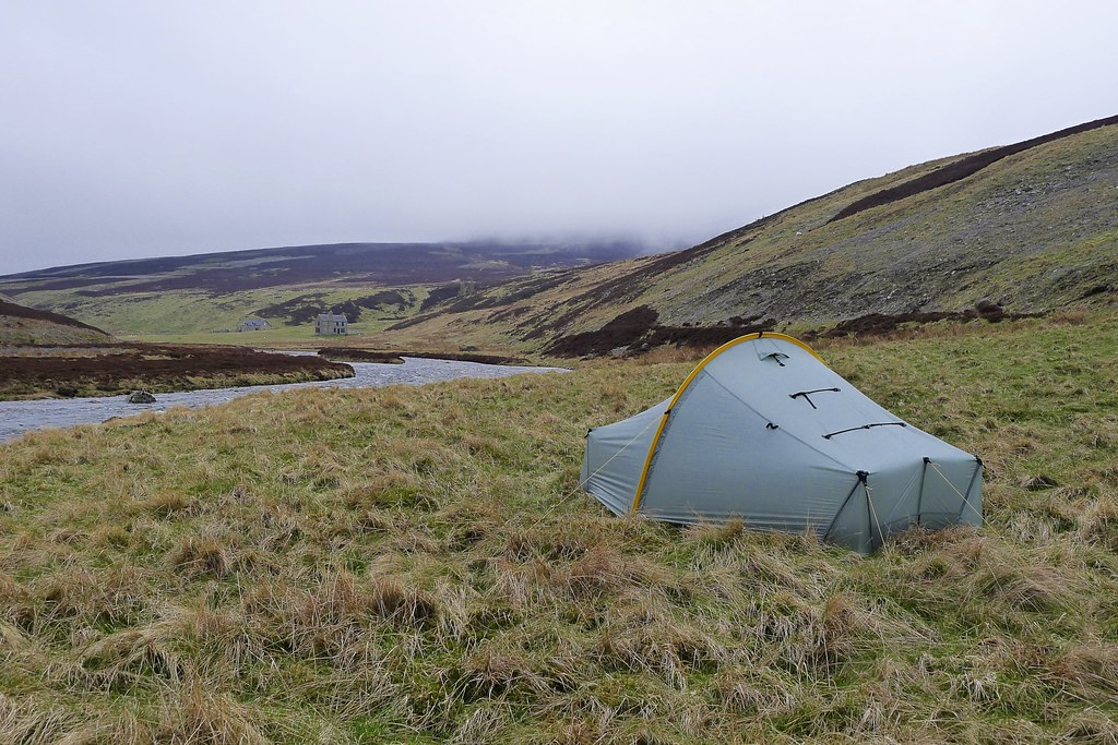 Wild camping hear Corndavon Lodge
