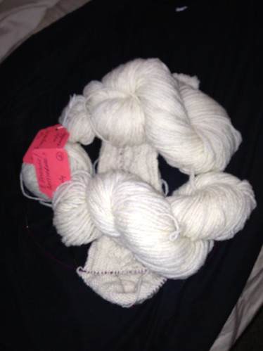 E. Friesian/Corriedale cross yarn