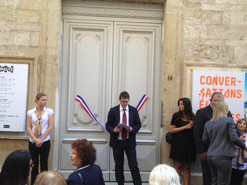 Franck Bauchard with the French ribbon @lapanace