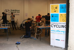 Building up the Bamboo Bicycles