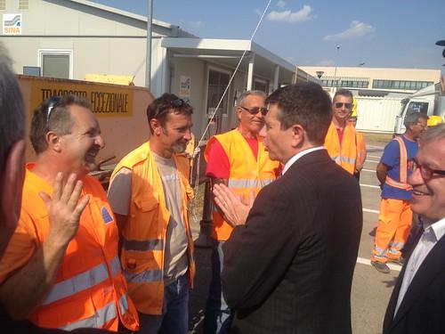 Ministro Lupi inaugura lavori autostrada a4 torino milano 1 luglio 2013 (3)