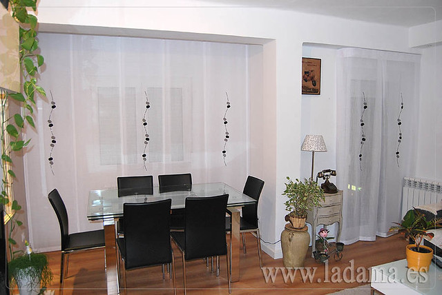 Panel japon s y cortina para sal n moderno flickr - Cortinas para salon moderno ...