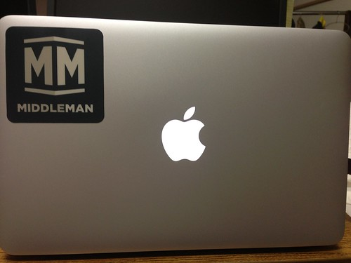 Middleman with MacBook Air