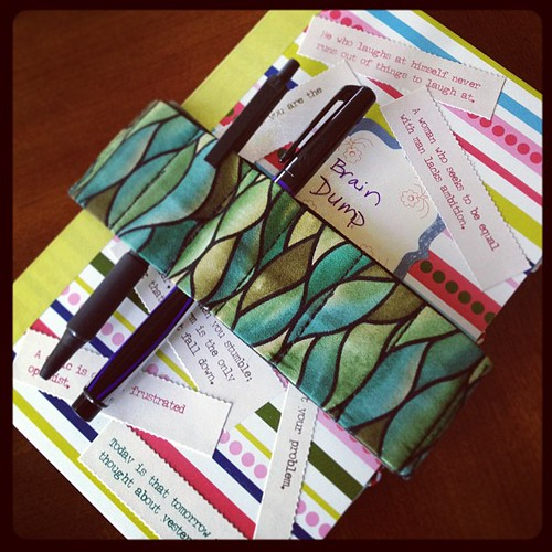 Brain dump journal with bandolier jen cameron glass addictions