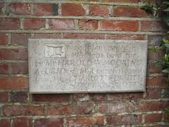 Photo of Herbert Druitt and Charlotte Druitt stone plaque