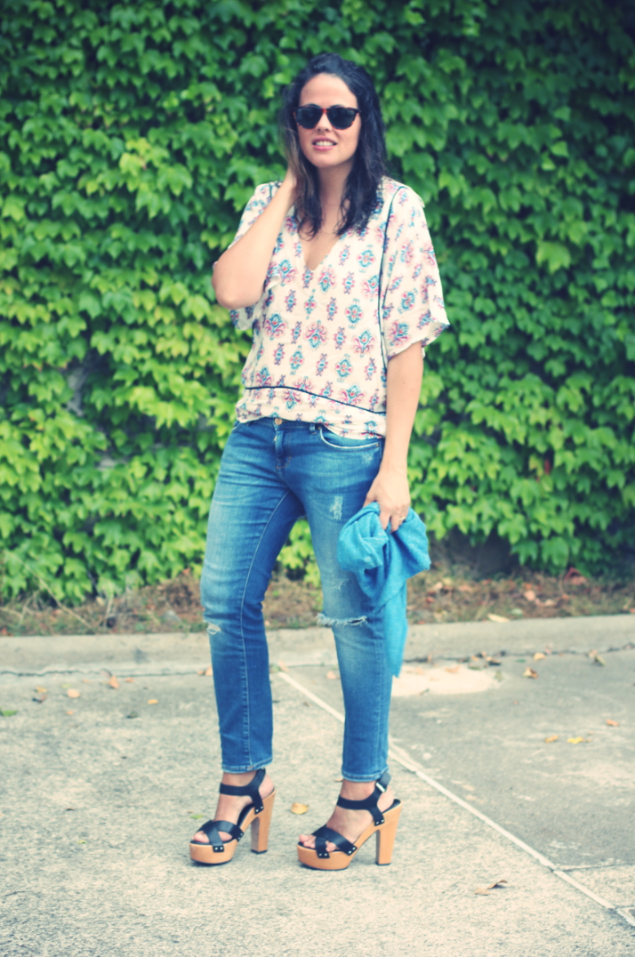 Look camisa estampada - Monicositas