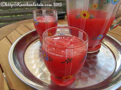 Wassermelonen-Limettengetränk mit Holunderblütensirup (2)