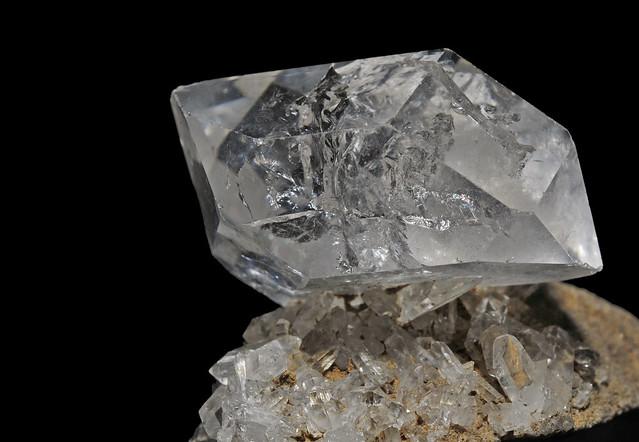 quartz var. diamond quartz (Herkimer)