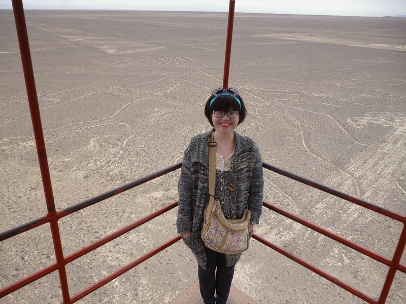 Sunblock and I at the Nasca lookout