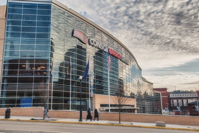 CONSOL Energy Center from across the street in Pittsburgh HDR