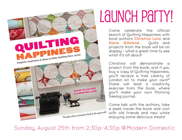 Quilting Happiness Launch Party!