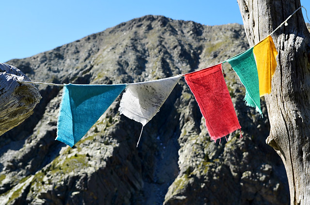 Prayer Flags, Refuge, Ulldeter, Pyrenees, Spain