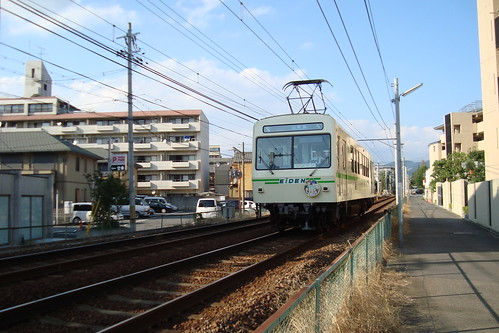 2013/09 叡山電車 きんいろモザイク ヘッドマーク車両 #02
