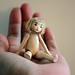 Miranda the tiny wooden jointed doll by MonkEyGstudio