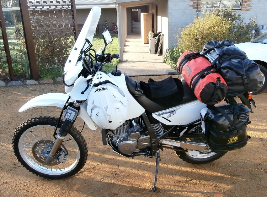 My DR650SE touring setup  Loadout in comments  (Already