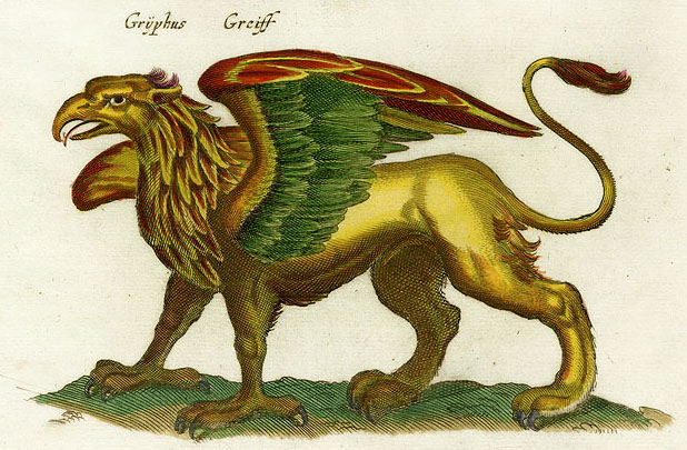 griffon, griffin, gryphon, chimera,  monster, medieval, Middle Ages, beast, vapor, rabbit-fish, vapour, winged lion, mythical, mythological,