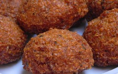 croquette, fried food, kofta, cutlet, kibbeh, fritter, korokke, food, dish, cuisine, meatball, fast food, falafel,