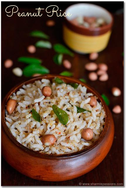 Peanut rice kadalai sadam recipe easy lunch box recipes peanut rice recipe forumfinder Images