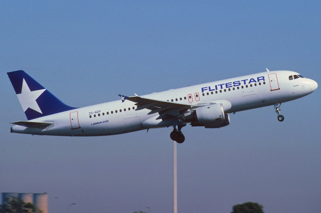 Flitestar Airbus A320-211; ZS-NZP, September 1993