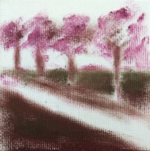 Row of Trees (Mini-Painting as of Sept. 28, 2013) by randubnick