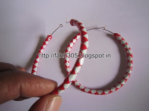 Handmade Jewelry - Paper Hoop Earrings  (6) by fah2305