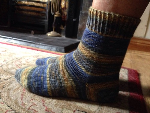 Van Gogh finished socks 2/8