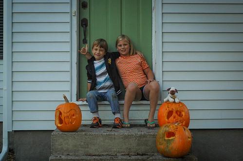 Carving pumpkins 2013